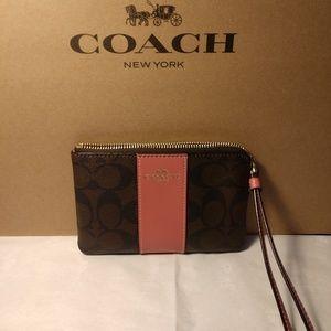 Coach Brown/Black - Salmon Color Block